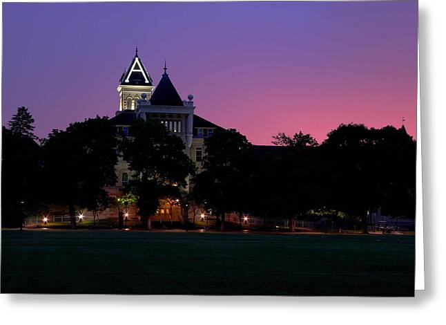 Aggies Greeting Cards - Old Main Greeting Card by David Andersen