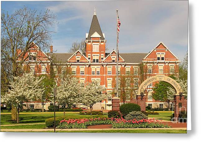 Old Main Greeting Cards - Old Main University of Findlay  6937 Greeting Card by Jack Schultz