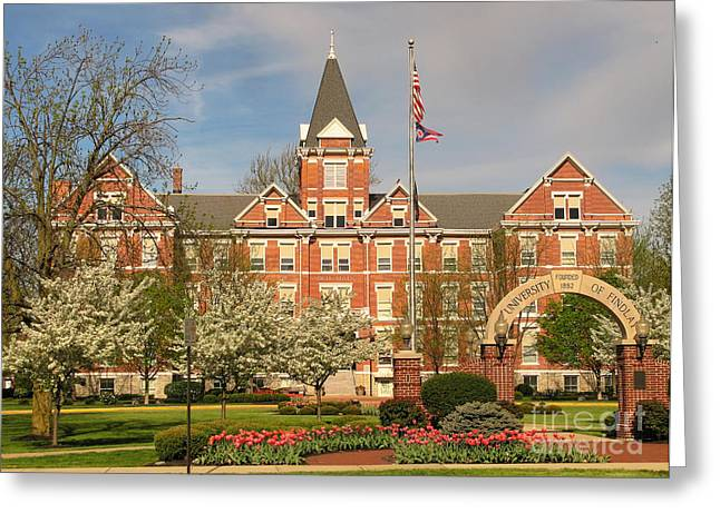 Old Main Greeting Cards - Old Main University of Findlay  6938 Greeting Card by Jack Schultz