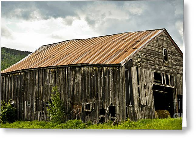 Old Maine Barns Greeting Cards - Old Maine Barn Greeting Card by Alana Ranney