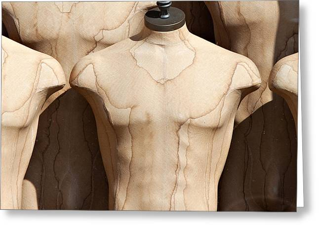 Cloth Greeting Cards - Old Male Dress Forms Greeting Card by Art Block Collections