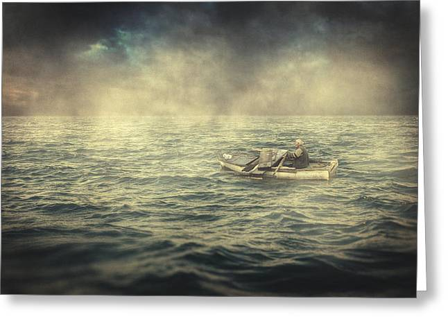 Old Man And The Sea Greeting Card by Taylan Soyturk