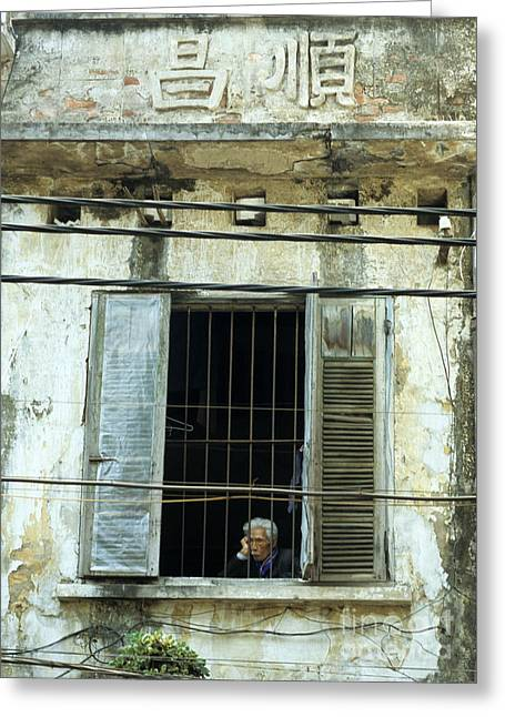 Viet Nam Greeting Cards - Old Man At The Window Greeting Card by Rick Piper Photography