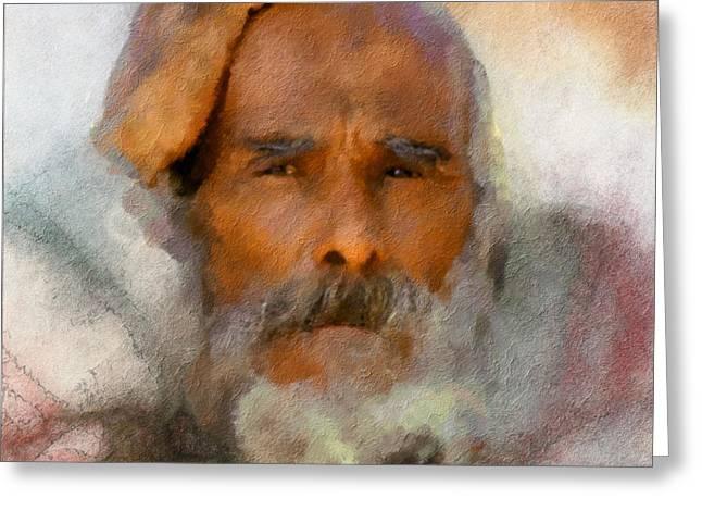 Old Man Greeting Card by Bob Galka