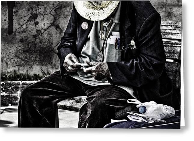 Old Man Greeting Card by Erik Brede
