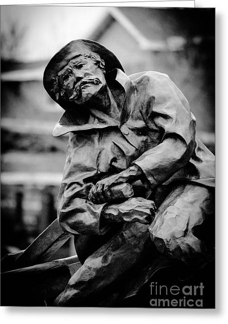Minnesota Fishing Greeting Cards - Old Man In Canal Park Greeting Card by Shutter Happens Photography