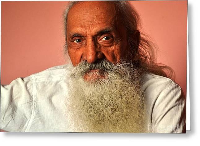 Old Man Greeting Card by Jyoti Vats