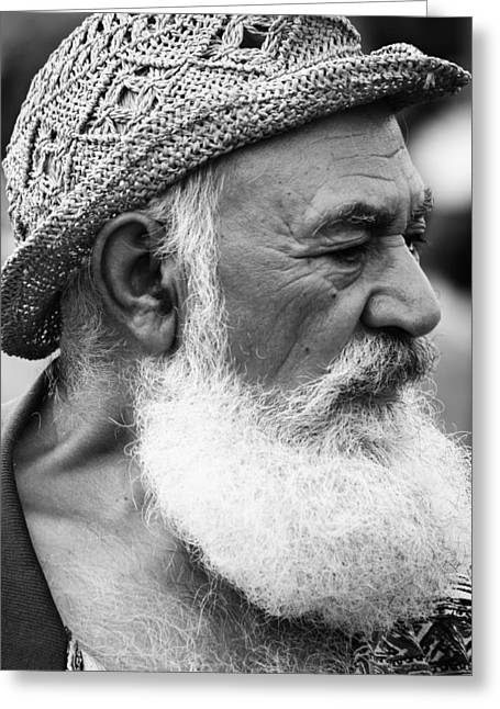 White Beard Greeting Cards - Old Man Strength Greeting Card by Jerry Cordeiro