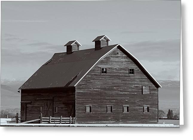 Kittitas Valley Greeting Cards - Old Manastash Barn - Kittitas County - Washington Greeting Card by Steve G Bisig