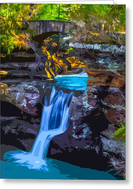 Old Man's Cave 2 Greeting Card by Brian Stevens