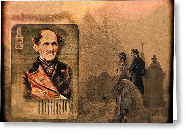 Tomb Mixed Media Greeting Cards - Old Mans Memoirs Greeting Card by Bellesouth Studio