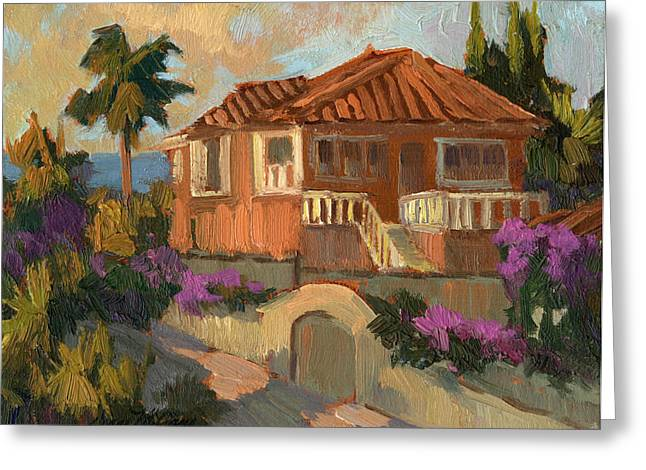 Tile Roofs Greeting Cards - Old Mansion Costa del Sol Greeting Card by Diane McClary