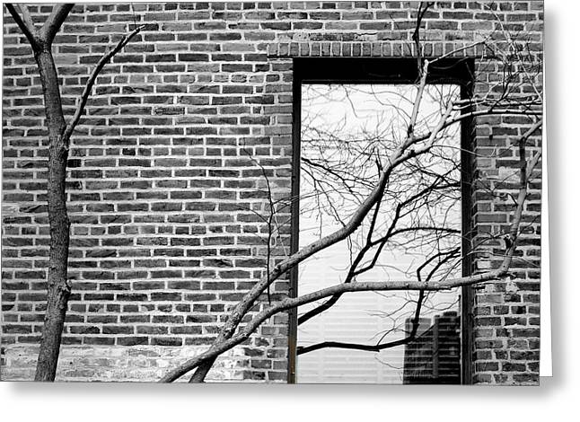 Old Market - Omaha - Metz Building - #3 - Black And White Greeting Card by Nikolyn McDonald