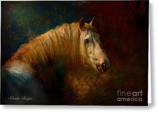 Running Horse Greeting Cards - Old Master...Himself Greeting Card by Dorota Kudyba