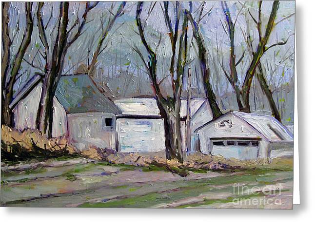 Outbuildings Greeting Cards - Old McDonalds Farm Greeting Card by Charlie Spear