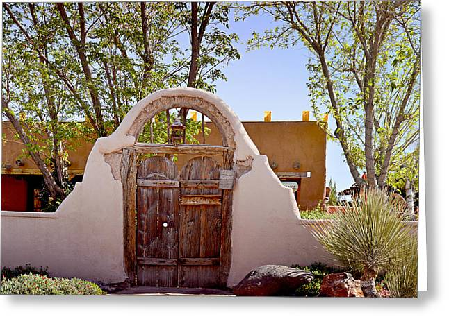 Old Doors Greeting Cards - Old Mesilla - Las Cruces NM Greeting Card by Christine Till