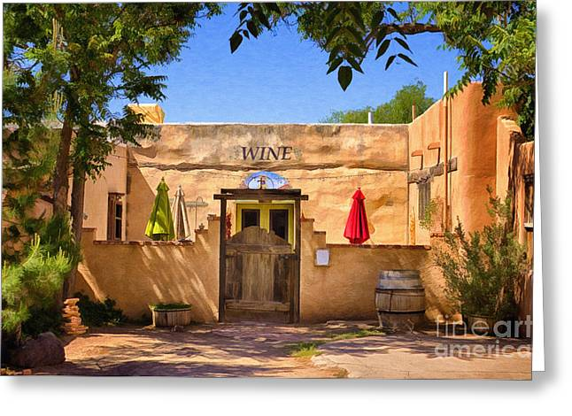 Winetasting Greeting Cards - Old Mesilla Wine Tasting Room Greeting Card by Priscilla Burgers