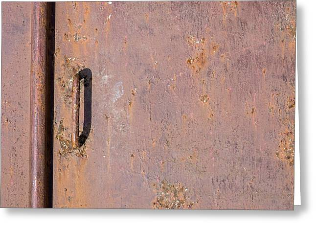 Basement Art Greeting Cards - Old Metal Door Greeting Card by Photographic Arts And Design Studio