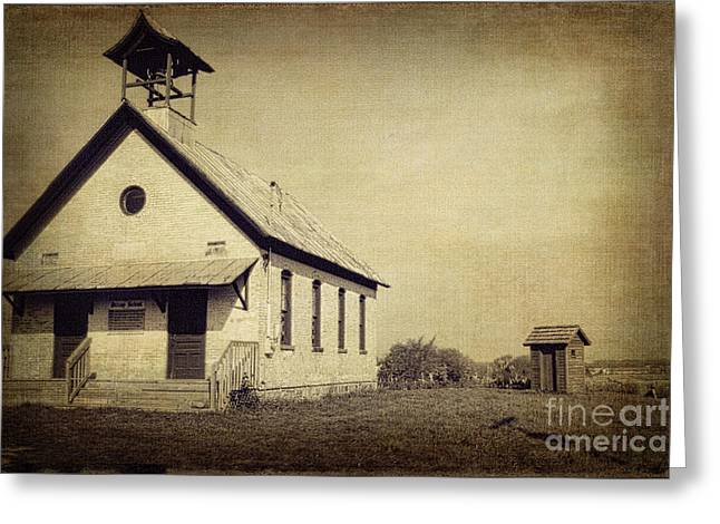 Old Michigan One Room School House Greeting Card by Emily Kay