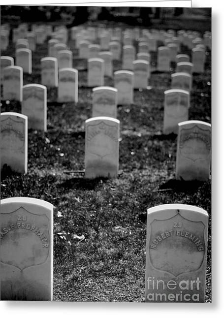 Headstones Greeting Cards - Old Military Graves Greeting Card by Amy Cicconi
