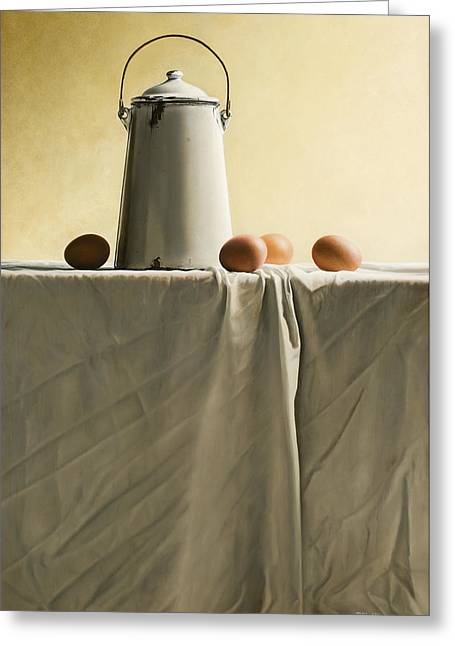 Old Masters Greeting Cards - Old MilkCan Greeting Card by Mark Van crombrugge
