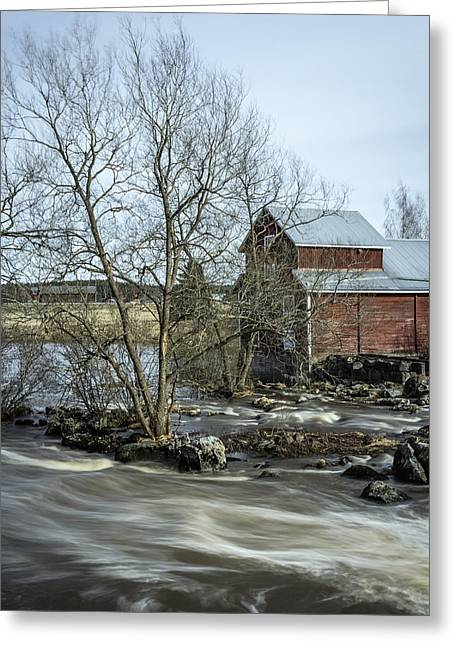 Old Mill 3 Greeting Card by Matti Ollikainen