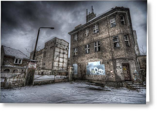 Creepy Digital Art Greeting Cards - Old Mill Entrance Greeting Card by Nathan Wright