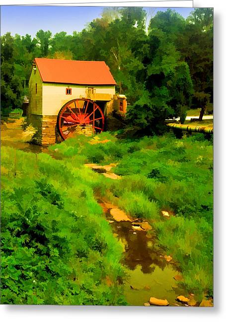 North Carolina Paintings Greeting Cards - Old Mill in Springtime Greeting Card by Cliff Wassmann