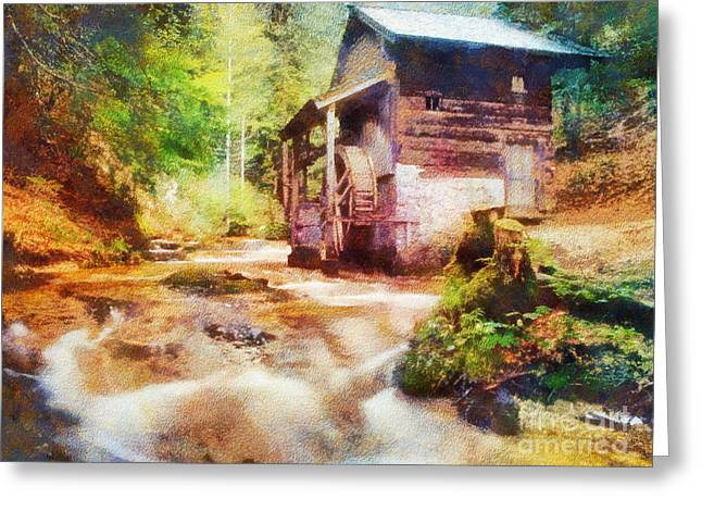 Old Mills Photographs Greeting Cards - Old Mill Greeting Card by Jim  Hatch
