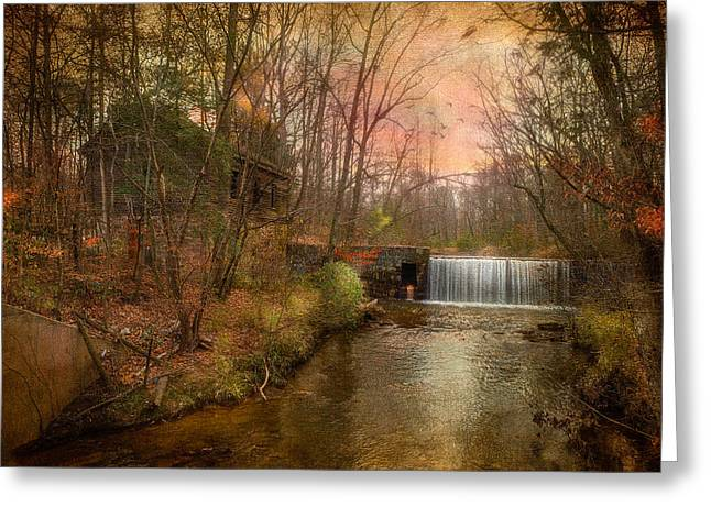 Old Mill Greeting Card by Michael Petrizzo
