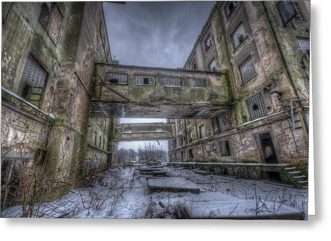Creepy Digital Art Greeting Cards - Old mill Greeting Card by Nathan Wright
