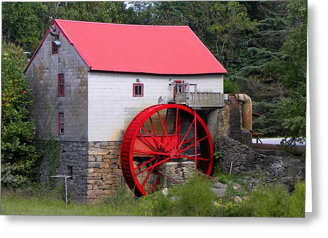 Grist Mill Greeting Cards - Old Mill of Guilford Greeting Card by Sandi OReilly