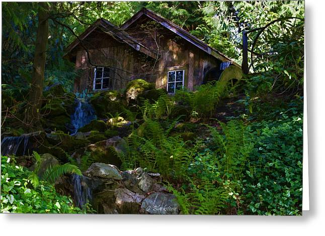 Stream Digital Art Greeting Cards - Old Mill on a Sunny Afternoon Greeting Card by Jordan Blackstone
