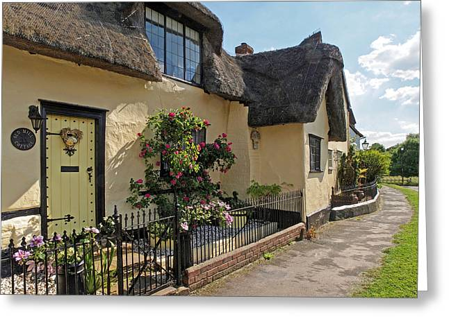 Thatch Greeting Cards - Old Mill Thatched Cottage Greeting Card by Gill Billington