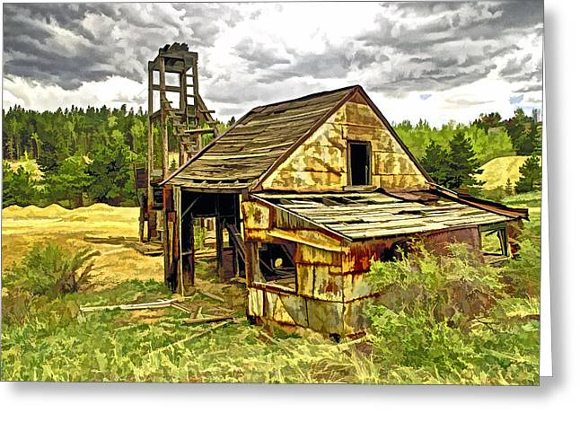 Old Mine Greeting Cards - Old Mine in Central  City Co Greeting Card by James Steele
