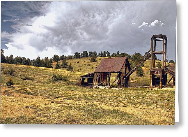 Old Mine Greeting Cards - Old Mine in Gilpin County Colorado Greeting Card by James Steele