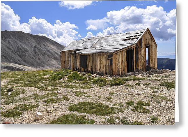Barn In Woods Photographs Greeting Cards - Old Mining House Greeting Card by Aaron Spong