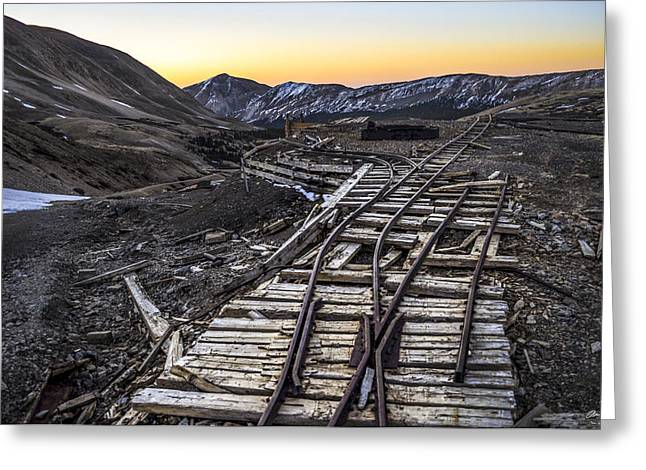 Mining Photos Greeting Cards - Old Mining Tracks Greeting Card by Aaron Spong