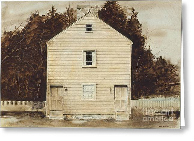 Located Greeting Cards - Old Ministrys Shop Greeting Card by Monte Toon