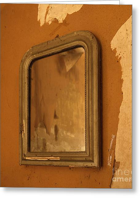 Picture Frame Greeting Cards - Old mirror Greeting Card by Bernard Jaubert