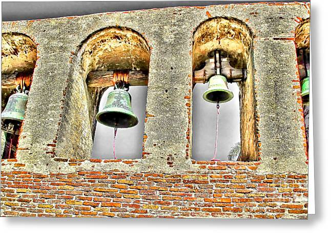 Neophyte Greeting Cards - Old Mission Bells Greeting Card by Jason Abando