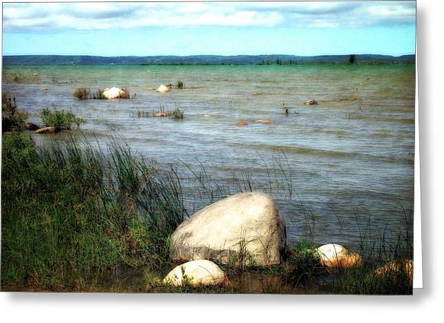 Sandy Point Park Greeting Cards - Old Mission Peninsula Greeting Card by Michelle Calkins