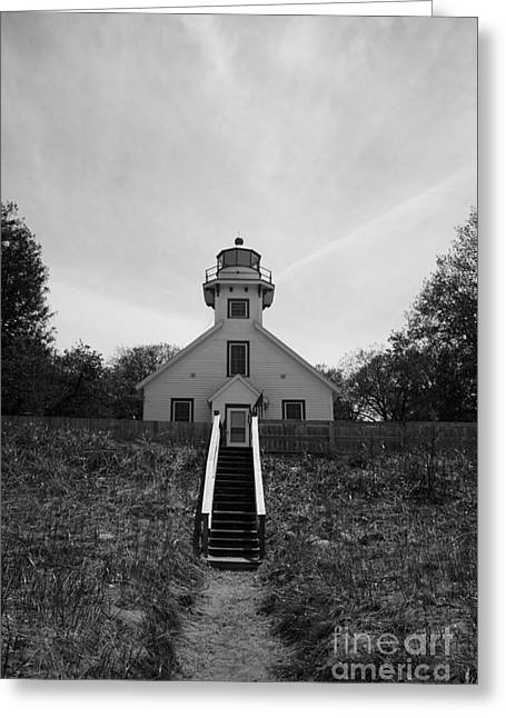 Joann Copeland-paul Greeting Cards - Old Mission Point Lighthouse Greeting Card by Joann Copeland-Paul