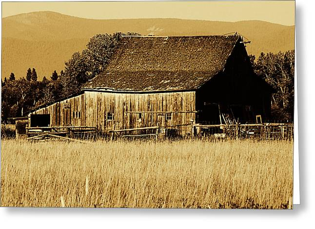 Ron Roberts Photography Greeting Cards - Old Montanna Barn Greeting Card by Ron Roberts