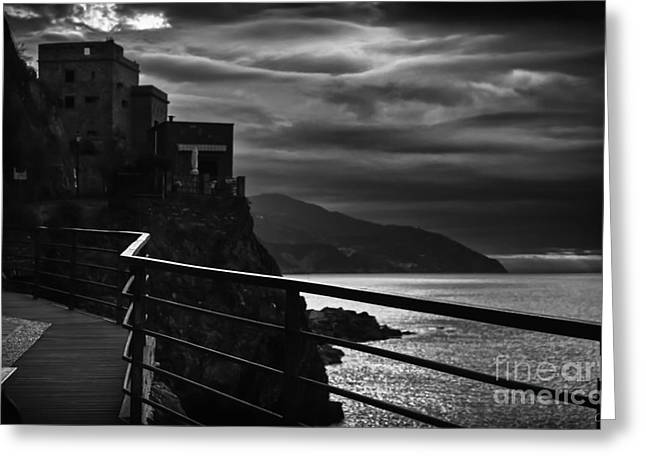 Storm Prints Greeting Cards - Old Monterosso Greeting Card by Prints of Italy