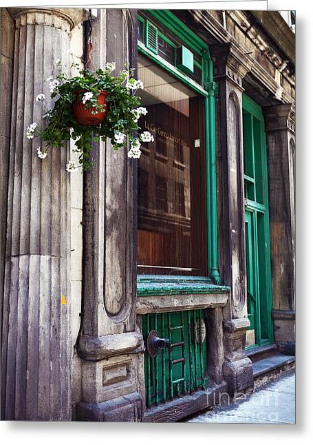 Quebec Province Greeting Cards - Old Montreal Architecture Greeting Card by John Rizzuto