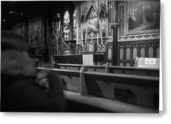"""""""prayer Room"""" Greeting Cards - Old-Montreal Greeting Card by Pierre Roussel"""