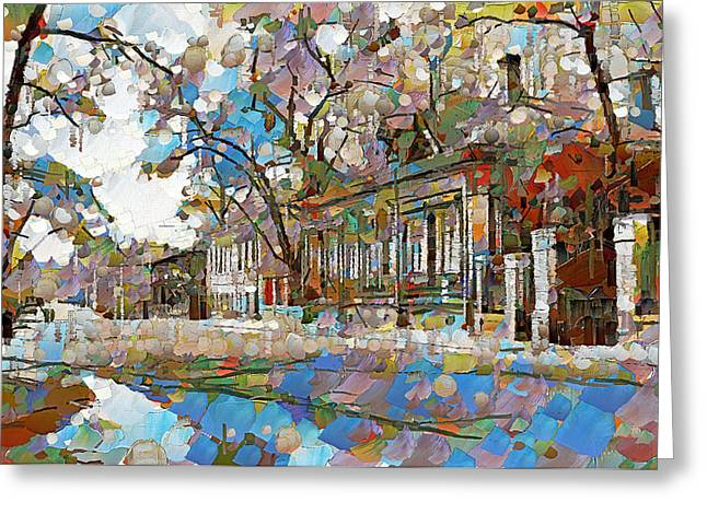 Moscow Digital Greeting Cards - Old Moscow Street Greeting Card by Yury Malkov