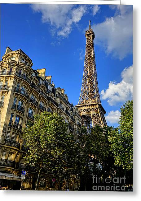 City Buildings Greeting Cards - Old Neighbors Greeting Card by Olivier Le Queinec