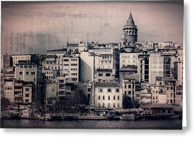 Stanbul Greeting Cards - Old New District Greeting Card by Joan Carroll